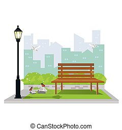 Illustration. Park