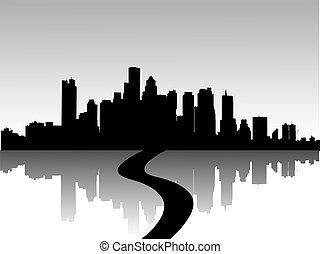Illustration städtischer Skylines