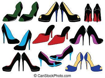 Illustration verschiedener Schuhe
