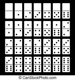 Illustration von Domino Set.