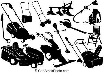 Illustration von Gartenwerkzeugen