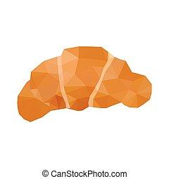 Illustration von Origami Croissant.