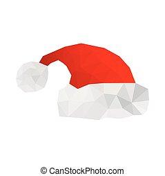 Illustration von Origami Santa Hut.