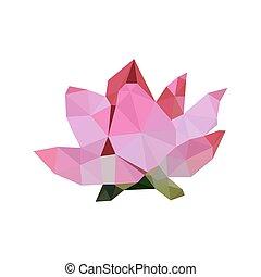 Illustration von rosa Origami Lotus.