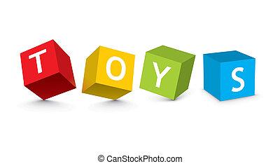 Illustration von Spielzeugblöcken