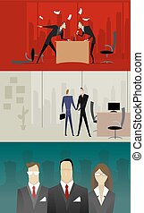 illustrationen, geschäftsbeziehung