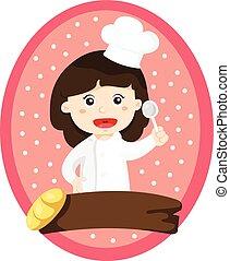 Illustrator von Kochmädchen.