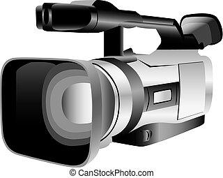 illustriert, fotoapperat, video