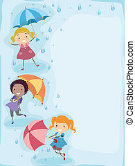 Im Regen spielen