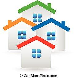 Immobilienhäuser Logo.