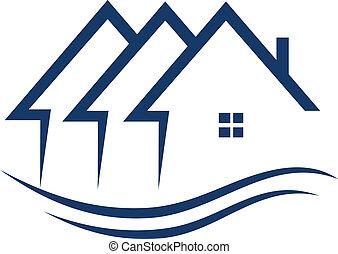 Immobilienhäuser sind Logovektor