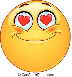 In Liebes-Emoticon