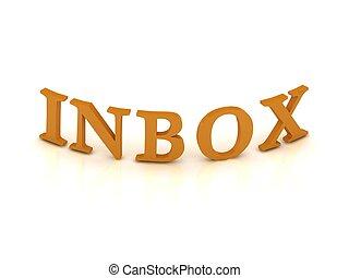INBOX mit orangefarbenen Buchstaben