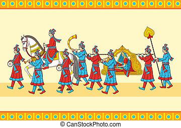 Indianer-Hochzeits-Baraat-Zeremonie.