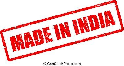 indien, vektor, gemacht, briefmarke