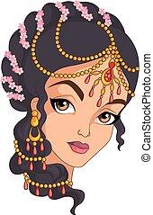 Indisches Mädchenporträt.