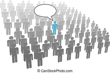 Individuelle Rede von der Gesellschaftsgruppe
