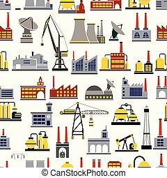 industrie, seamless, wiederholen