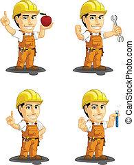 Industrielle Bauarbeiterfeder