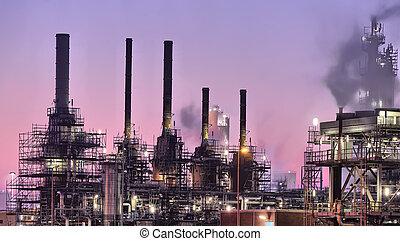 Industrielle Nachtszene