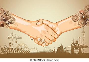 Industrieller Händedruck