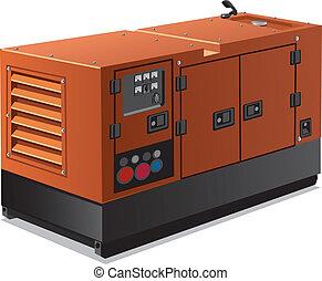 Industriestromgenerator.