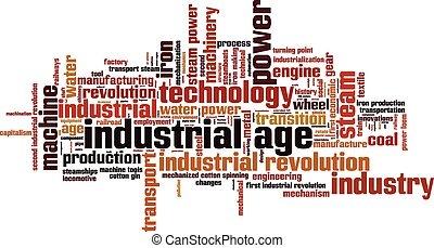 Industriezeit-Wortwolke