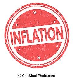 Inflationszeichen oder Stempel.