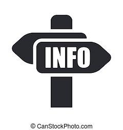info, freigestellt, abbildung, ledig, vektor, cartel, ikone