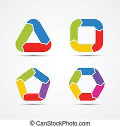 info, grafik, modern, pfeile, vektor, kreis