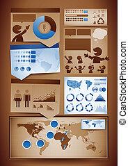Infografische Designelemente