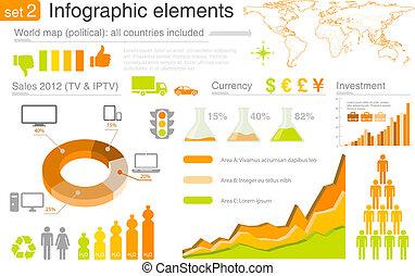 Infografische Elemente: Multikolor