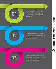Infografisches Design auf dunklem Papier