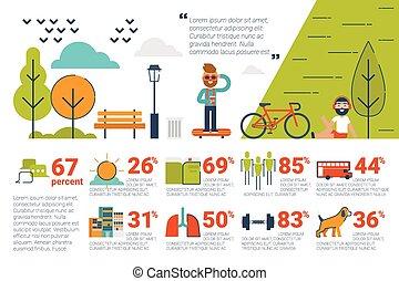 infographic, begriff, park, elemente, heiligenbilder