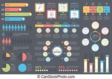 infographic, elemente