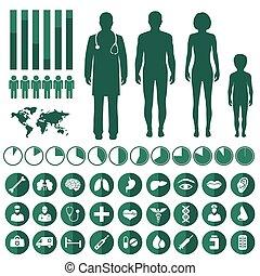 infographic, medizin, vektor
