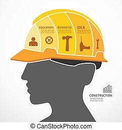 Infographic Template mit Baukonzept Jigsaw Banner . Vector Illustration