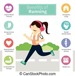 infographic, vorteile, rennender