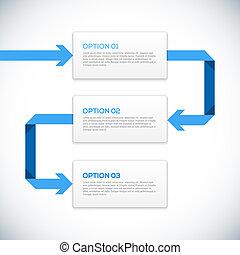 Infographics 3D Vorlage mit Pfeilen.