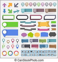 Infographische Elementesammlung.