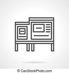 Information Ad-Board Black Line Vektor Icon
