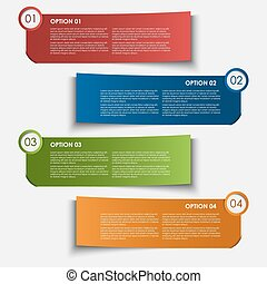 Information Optionen Tags Design Element.