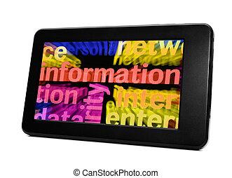 informationen, tablette pc