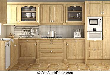 Innendesign klassische Küche