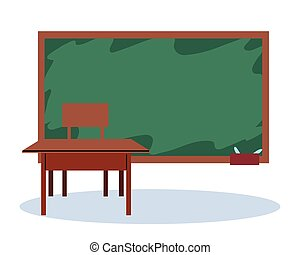 inneneinrichtung, schule, tafel, klassenraum