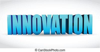 Innovation Text Illustration Design.