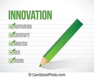 Innovationscheck-Liste Illustration Design