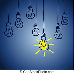 Innovative Lampe. Idee