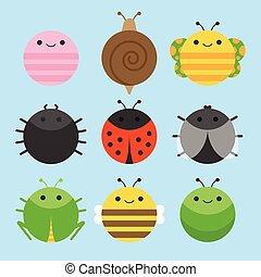 insekt, tier- satz