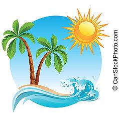 insel, tropische